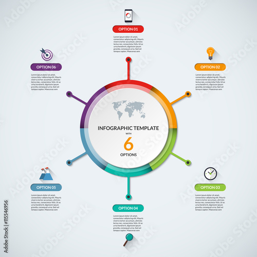 Infographic circle diagram template business concept with 3 steps infographic circle diagram template business concept with 3 steps parts options banner with the set of flat icons and design elements ccuart