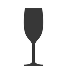 Drink concept represented by wine cup icon. Isolated and flat illustration