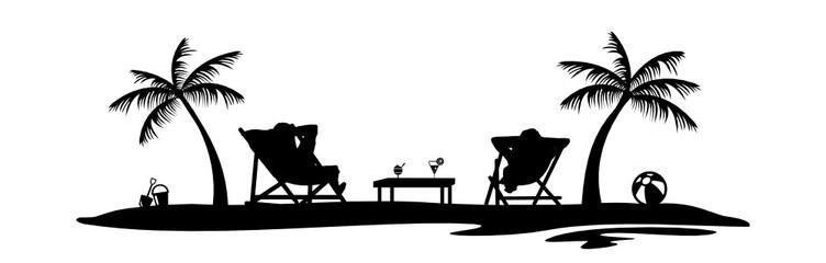 Strand clipart schwarz weiß  Bilder und Videos suchen: sonnenstuhl