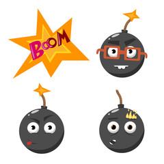 cartoon bomb set 2