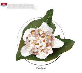 Palu Sami or Kiribati Meat with Coconut in Taro Leaves
