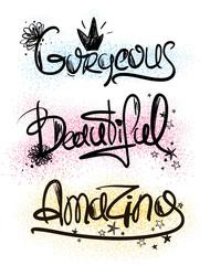 Typography Handlettering Inspirational Words.