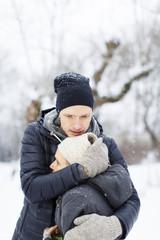 Sweden, Sodermanland, Jarna, Adult son hugging mother in park