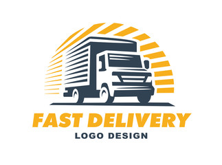 Logo delivery service concept.
