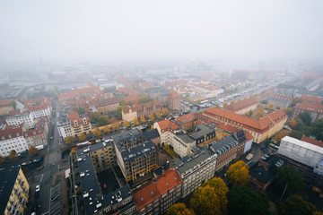 Foggy view from the tower of the Church of Our Saviour, in Chris