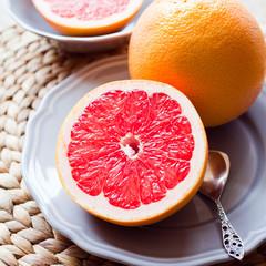pink grapefruit for breakfast