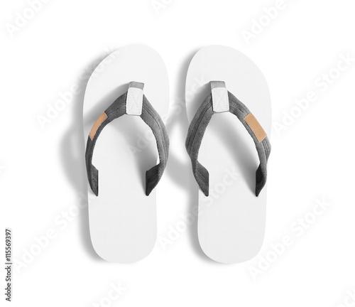 31dd424ca61bdb Pair of blank white slippers