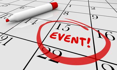 Event Party Celebrate Celebration Calendar Day Date 3d Illustrat