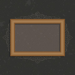 Vector wooden frame