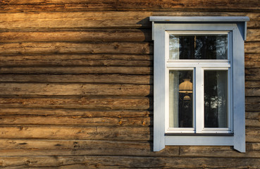 Finland, Pirkanmaa, Ruovesi, Wooden cottage with window
