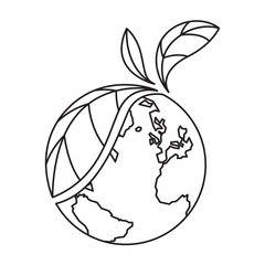 icon plant and earth, vector
