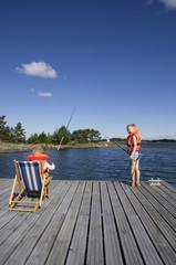 Finland, Egentliga, Boys fishing