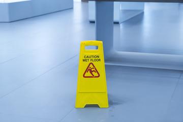 """""""Caution wet floor"""" sign"""