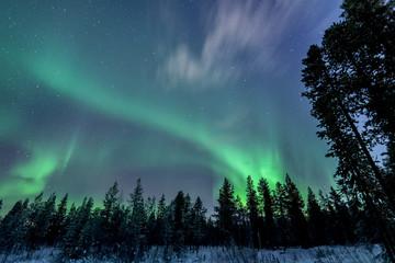 Finland, Lapland, Levi, Aurora borealis