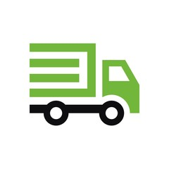 Car fast delivery logo vector