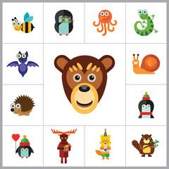 Funny Animals Icon Set