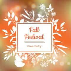 Fall festival. Vector colorful illustration