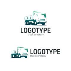 Logistics or delivery service label. Vector logo design template.