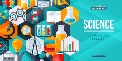 Science laboratory research creative banner