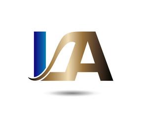 LA logotype