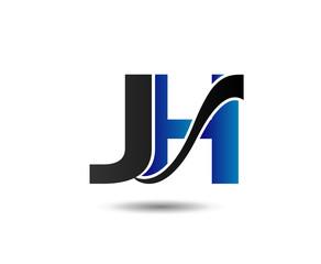 letter JH logo vector