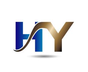 letter Hy logo vector