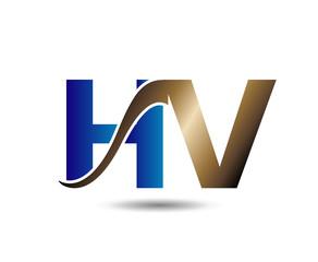 Letter H and V monogram logo