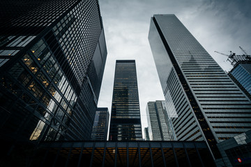 Modern buildings in the Financial District, in Toronto, Ontario. Wall mural