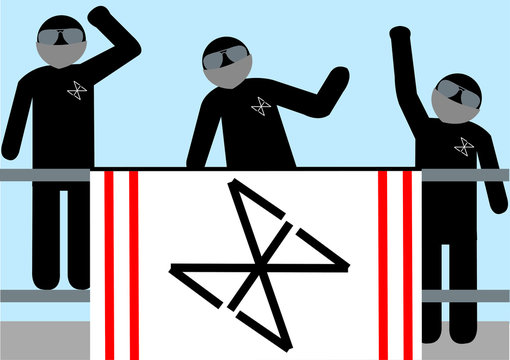 Illustration Hooligans; Wut; Aggression; Veranstaltung; vermummt; fanatisch; extrem; pöbeln; Sport