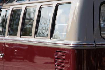 Fenster eines alten deutschen Kleinbus