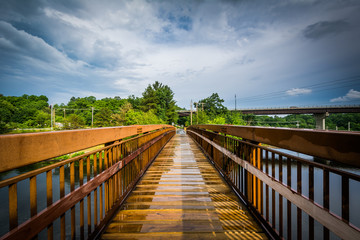 Pedestrian bridge over the Piscataquog River, in Manchester, New