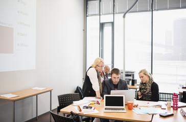 Finland, Helsinki, Group of people working in office