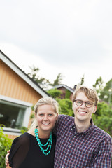 Sweden, Sodermanland, Jarna, Portrait of smiling young couple