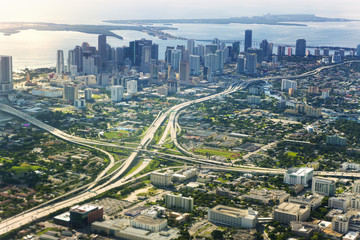 USA, Florida, Aerial view of Miami