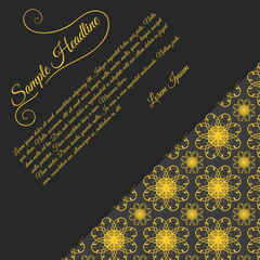 Invitation card with papercut effect