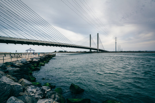 The Indian River Bridge over the Indian River Inlet near Bethany