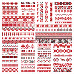 Big set of embroidery patterns