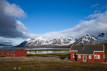 ny alesung in the svalbard island near north pole
