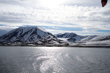 svalbard view of the landscape during the summer season