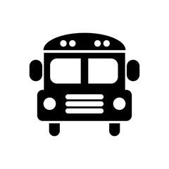 School bus icon. Vector illustration