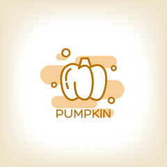pumpkin vector logo design template.