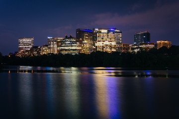 View of the Rosslyn skyline at night, seen from Georgetown, Wash
