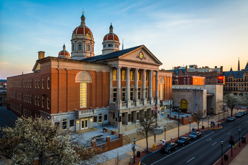 View of the York County Courthouse, in York, Pennsylvania. Wall mural