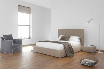 Contemporary beach style bedroom