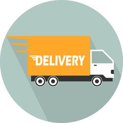 Delivery Car. Single flat color icon. vector illustration