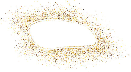 Oval background with sand.