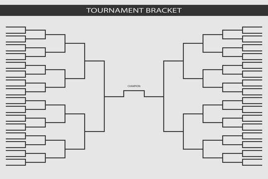 soccer, baseball Tournament Bracket for your design. Champion sh