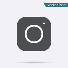 Gray Camera icon isolated on background. Modern simple flat inst