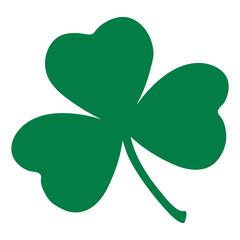 Green Shamrock leave icon isolated on background. Happy patricks