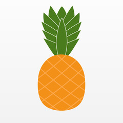 Ananas Pineapple icon isolated on background. Modern flat pictog